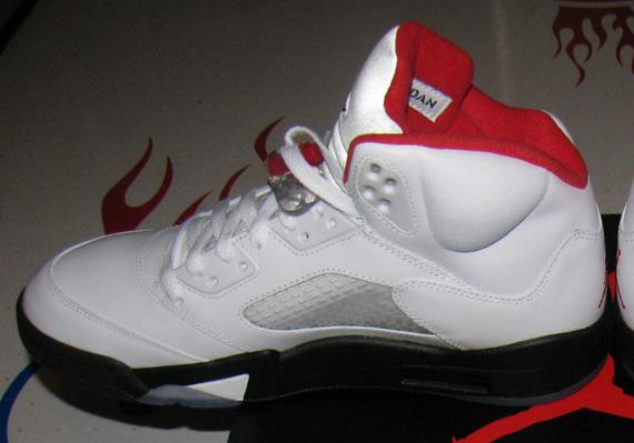 jordan 5 red black and white