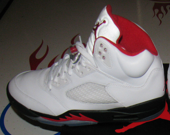 wholesale dealer 3e30e 4abb5 Air Jordan 5 Retro - White - Fire Red - Black - SneakerNews.com