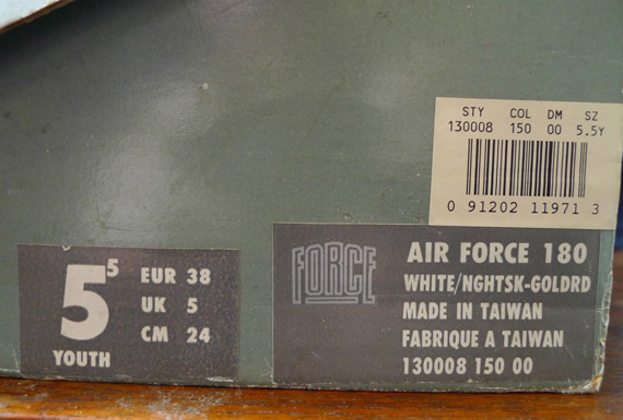 3b6c915403bd Nike Air Force 180 High Pump White Night Sky-Goldenrod 13000-150. show  comments