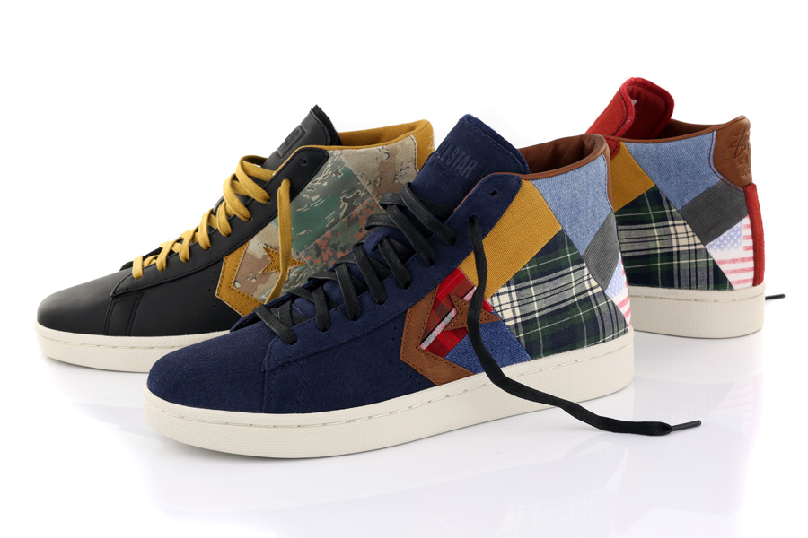 stussy new york crew x converse pro leather patchworkunveiled 861e100a28