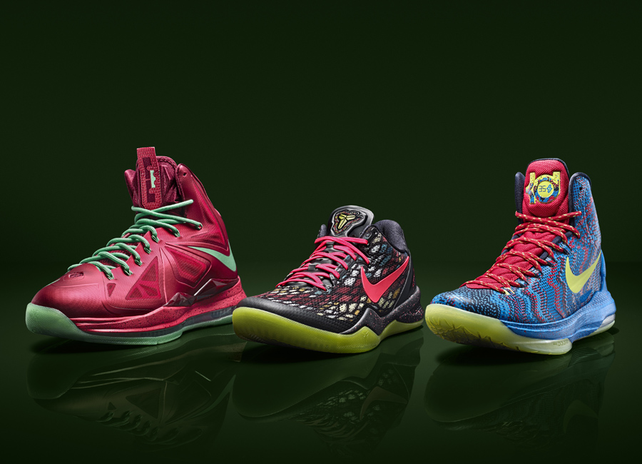 "new concept 7bab3 7545f Nike Basketball ""Christmas Pack"" Officially Unveiled - SneakerNews.com"