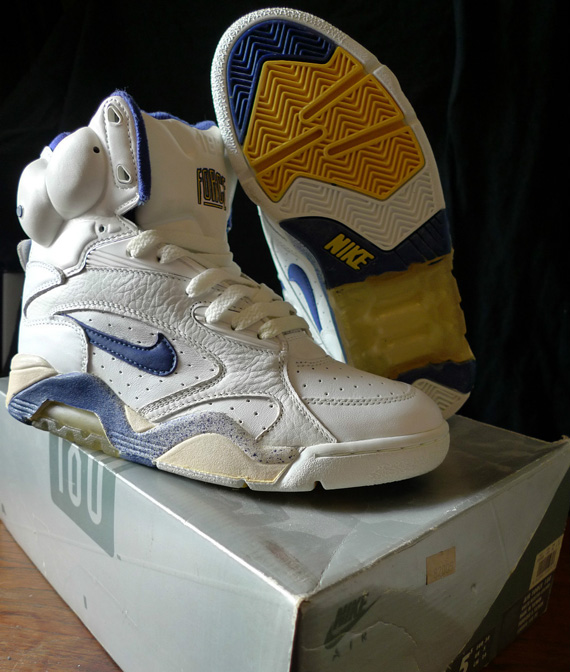 26fa7a8777d840 Nike Air Force 180 High Pump White Night Sky-Goldenrod 13000-150. show  comments