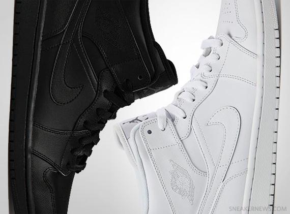 4d56c2ad98d42c Air Jordan 1 Mid - Tonal Black + White