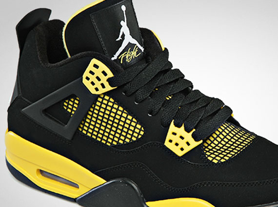 9aa4b50443e3 official jordan retro 4 yellow and black b5dab 18dbf
