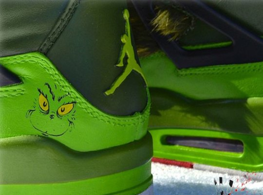 """Air Jordan IV """"Grinch"""" Customs by Freaker Sneaks"""