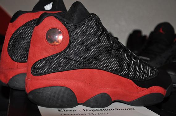 ebay jordan 13 red black
