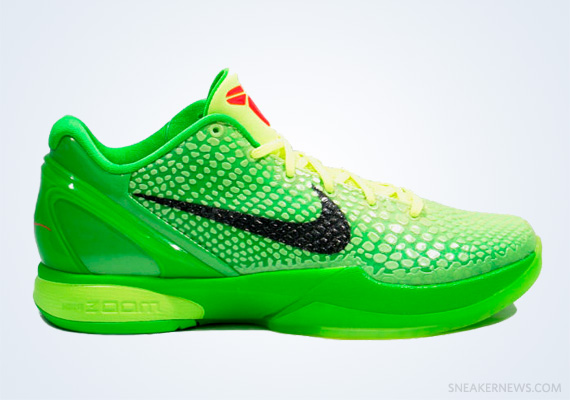 "newest e540b 4636f Classics Revisited  Nike Zoom Kobe VI ""Grinch"" (2010)"