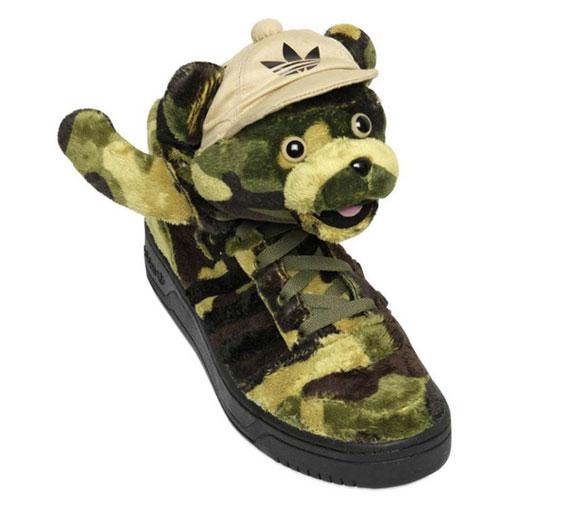 jeremy scott x adidas originali js mimetico orso