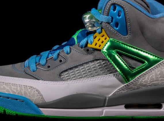Air Jordan Vert Bleu Gris