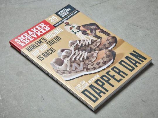 Dapper Dan New Balance 574 on Cover of Sneaker Freaker 26