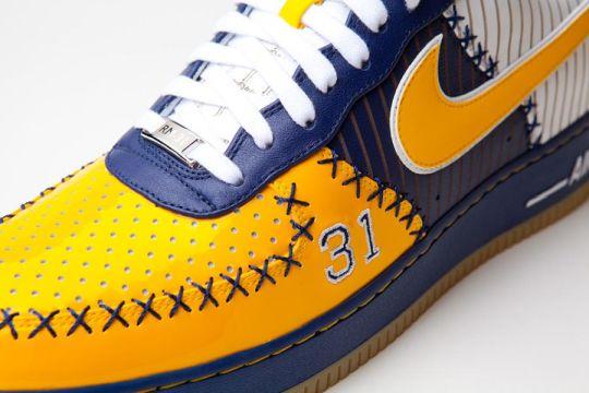 """Nike Air Force 1 Bespoke """"Reggie Miller"""" by Layupshot"""