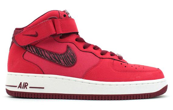 Nike Air Force 1, Mi, Jaspe Zèbre Rouge