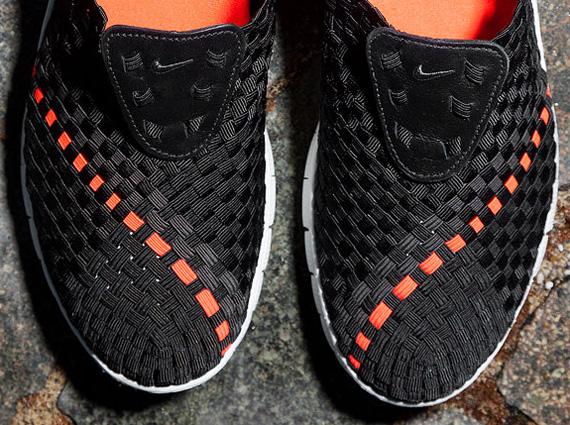 Nike Free Woven Black Sail Orange
