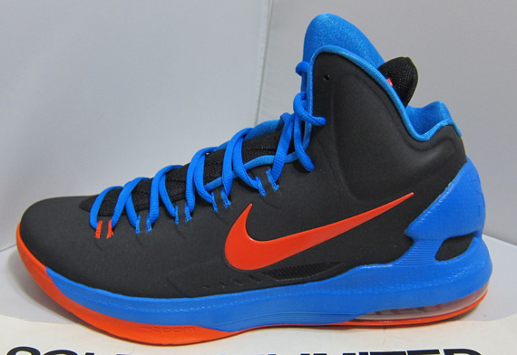 Kd  Shoes Orange And Blue