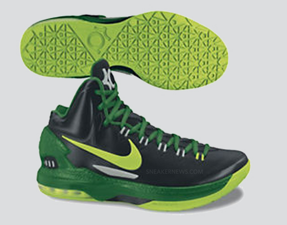 KD 5 Shoes Electric Green White New Green 554988 003