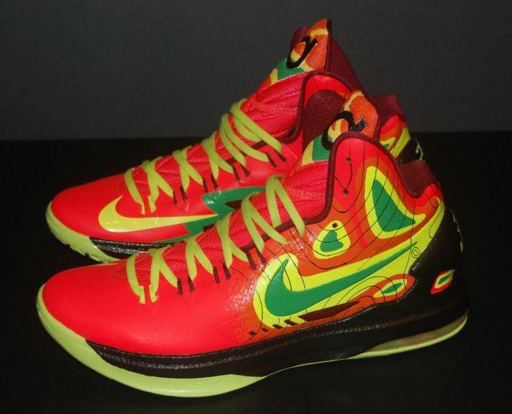 "Nike KD V ""Weatherman on Fire"" Customs by JP Custom Kicks ..."