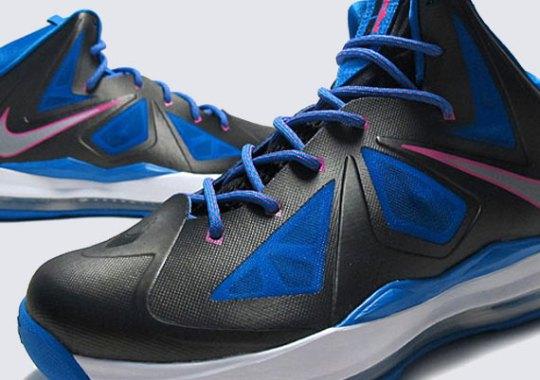 100% authentic e4a17 beacf Nike LeBron X GS – Black – Photo Blue