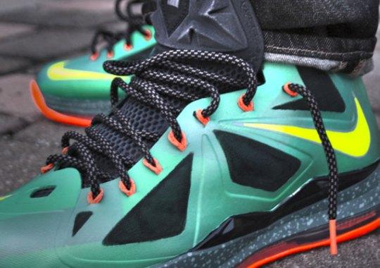 "Nike LeBron X ""Cannon"" Customs by Twizz"