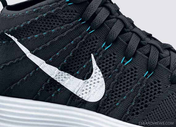 Nike Lunar Flyknit Chukka Black White Neo Turquoise