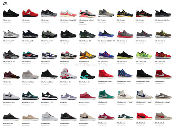 Nike Sportswear January 2013 Releases - SneakerNews com
