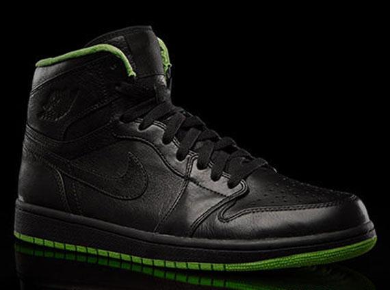 jordans black and green