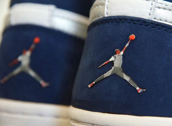 Air Jordan 1 Whitenavy Jumpman Logo Sample Sneakernews