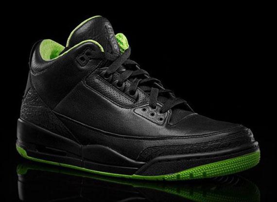"""708849ccd3602e Air Jordan III """"Black Neon Green Collection"""" - SneakerNews.com"""