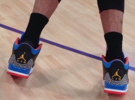 "NBA Feet: Russell Westbrook in Air Jordan III ""Thunder"" PE"