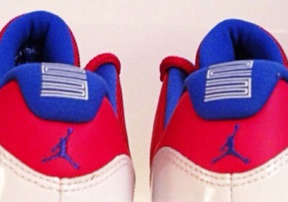 wholesale dealer 6c84b d71d6 Air Jordan XI Low - Red - White - Blue - Michael Jordan PE ...