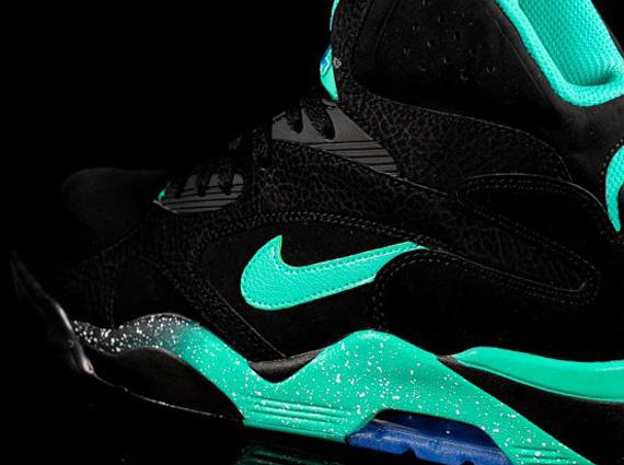 Nike Air Force 180 Mid White Black Atomic Teal
