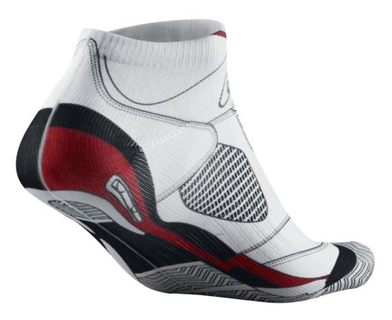 Air Jordan V White/Fire Red Socks