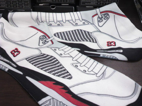 788fdc6ab78a Air Jordan V White Fire Red Socks - SneakerNews.com
