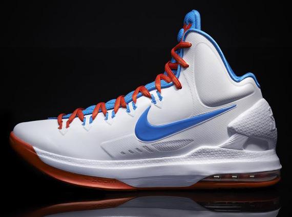 Nike KD 5 V OKC Home White Photo Blue Orange