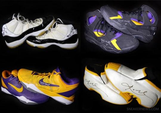 Kobe Bryant Autographed Sneaker Showcase