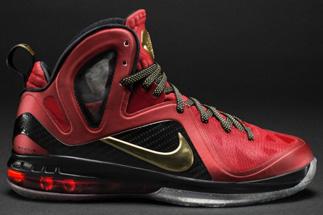 2015 New Nike Zoom Lebron 9 P.S. Elite MVP Yellow Black Red Lebr
