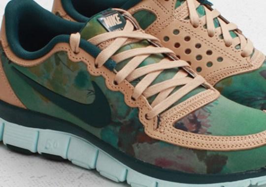 """Liberty x Nike WMNS Free 5.0 V4 """"Denise Eva Green"""""""