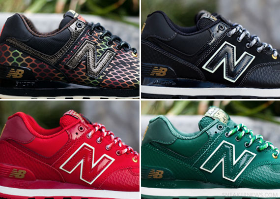 zapatillas new balance ml574 snake pack