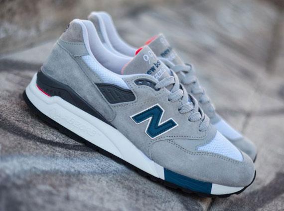 Nuevo Equilibrio 998 Gris, Azul, Rojo