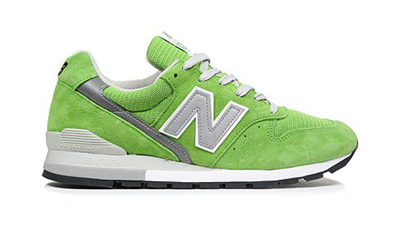 new balance grey and green