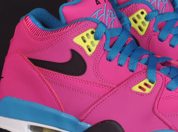 Nike Air Flight 89 GS Fusion Pink Black Electric Yellow