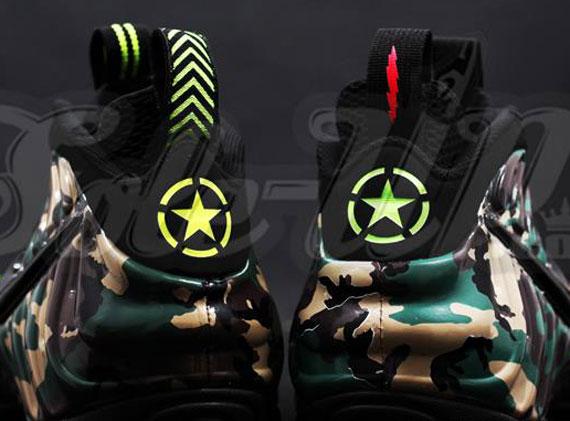 Nike Air Foamposite ProWhite Gym Red Gorge Green Kith