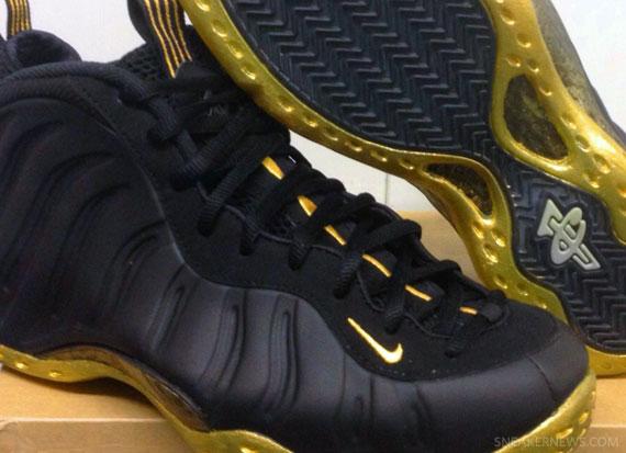 detailed look be8ee bf824 Cheap 2015 Nike Air Foamposite One Black Gold Custom