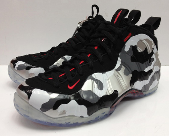 "Nike Air Foamposite One ""Fighter Jet"" - Black - Hyper Red ..."