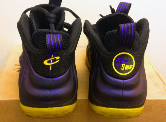 6a20a2639b82f Nike Air Foamposite One quotLakers Awayquot Customs by Sole Swap best