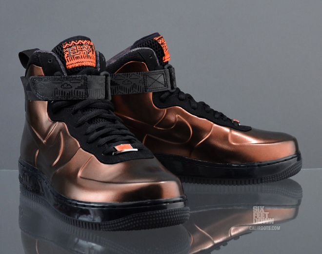 nike air force 1 foamposite black history month