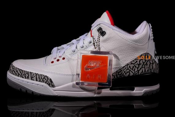 buy online 36257 8d202 Air Jordan III  88. White Black-Cement Grey 580775-160. Advertisement
