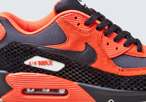 nike air max 90 premium quotsnakequot team orange black