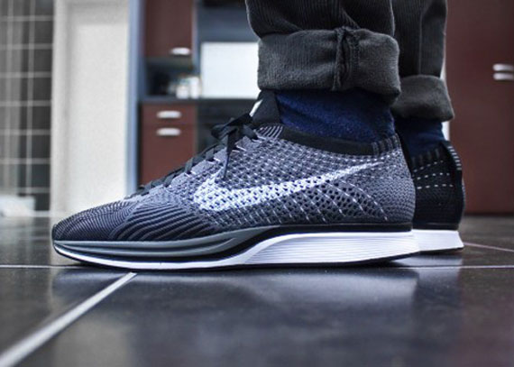 2919fb62708a Nike Flyknit Racer - Dark Grey - White - Black - SneakerNews.com
