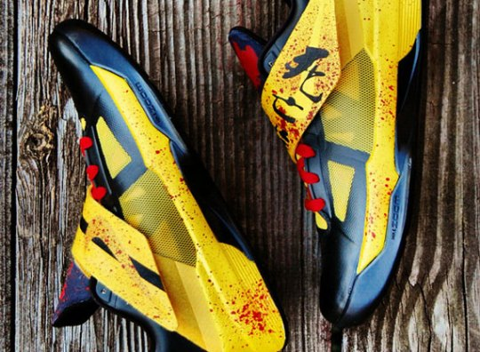 """Nike Zoom KD IV """"Game of Death"""" Customs by GourmetKickz"""