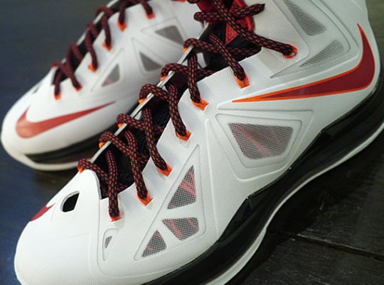 Nike LeBron X – White – University Red – Black – Total Crimson